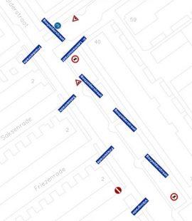 Ronnico straatnaamborden met de échte straatnaam in beeld.