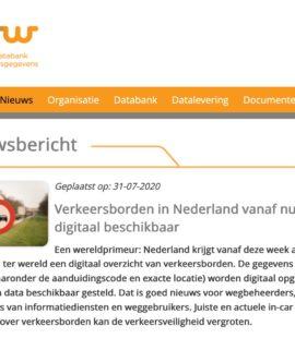 NDW-verkeersbordenbestand als open data te downloaden